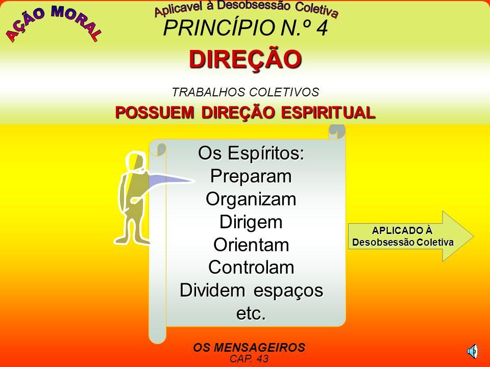 DIREÇÃO TRABALHOS COLETIVOS POSSUEM DIREÇÃO ESPIRITUAL