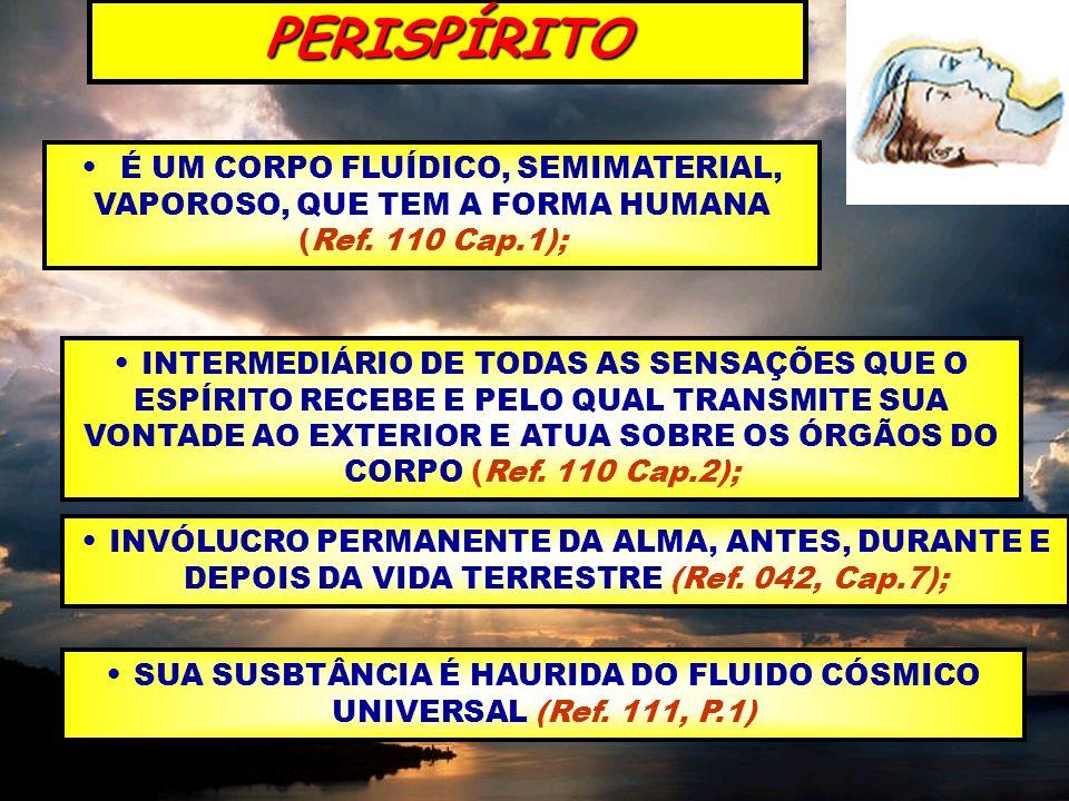 SUA SUSBTÂNCIA É HAURIDA DO FLUIDO CÓSMICO UNIVERSAL (Ref. 111, P.1)