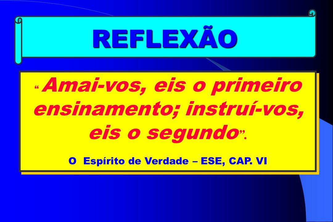 REFLEXÃO O Espírito de Verdade – ESE, CAP. VI