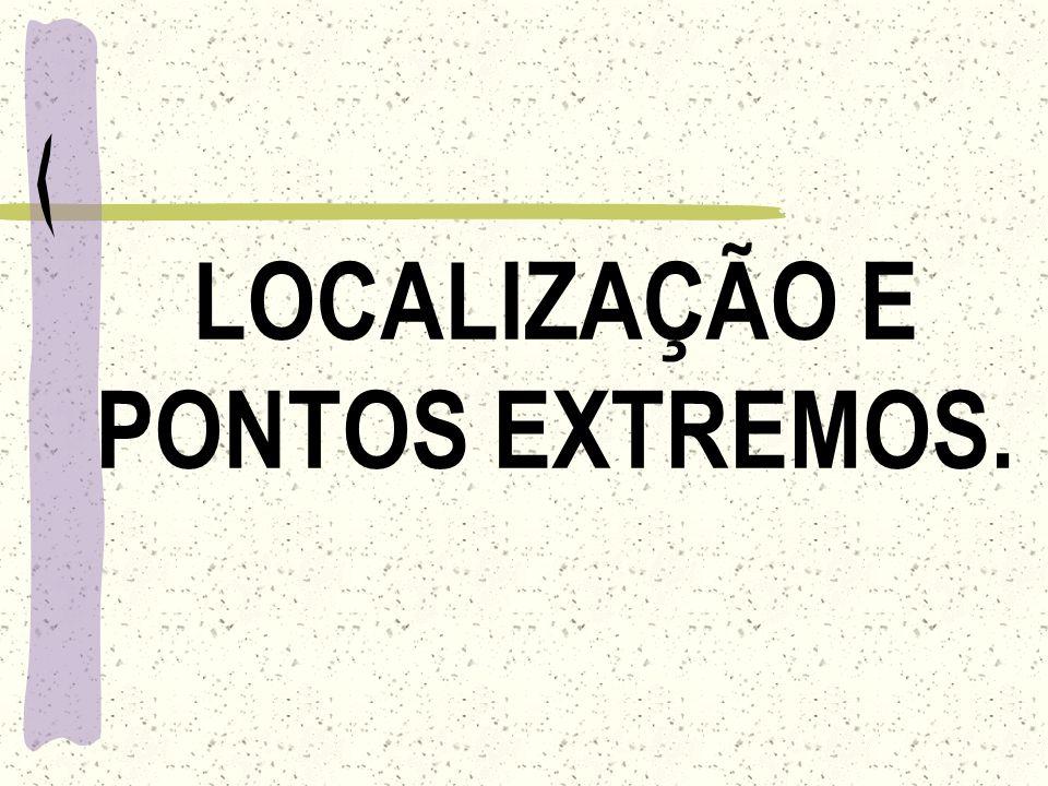 LOCALIZAÇÃO E PONTOS EXTREMOS.