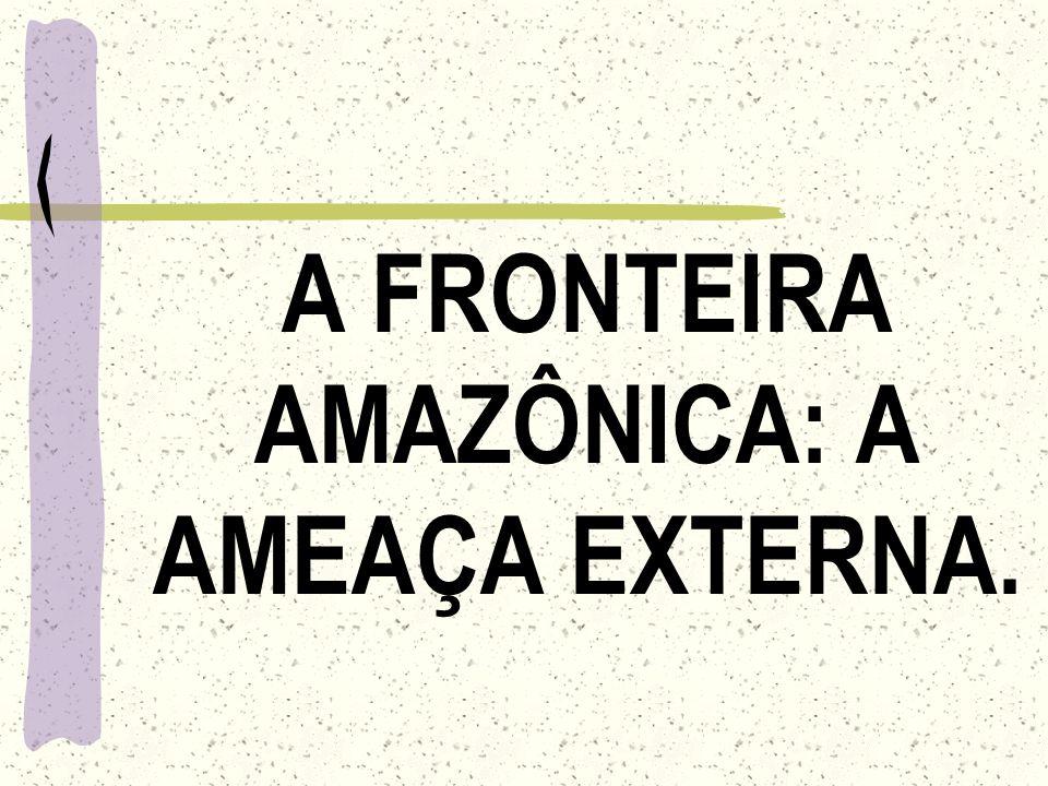 A FRONTEIRA AMAZÔNICA: A AMEAÇA EXTERNA.