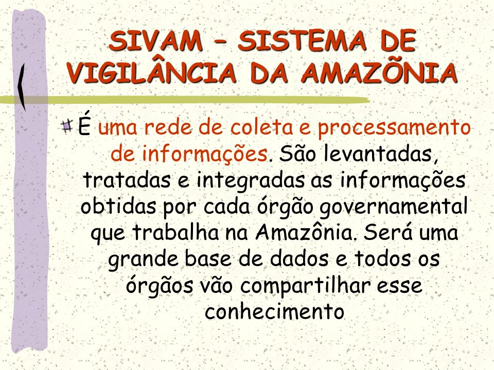 SIVAM – SISTEMA DE VIGILÂNCIA DA AMAZÕNIA