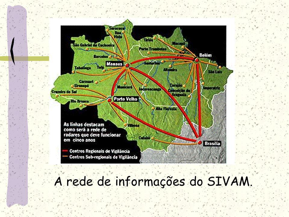A rede de informações do SIVAM.