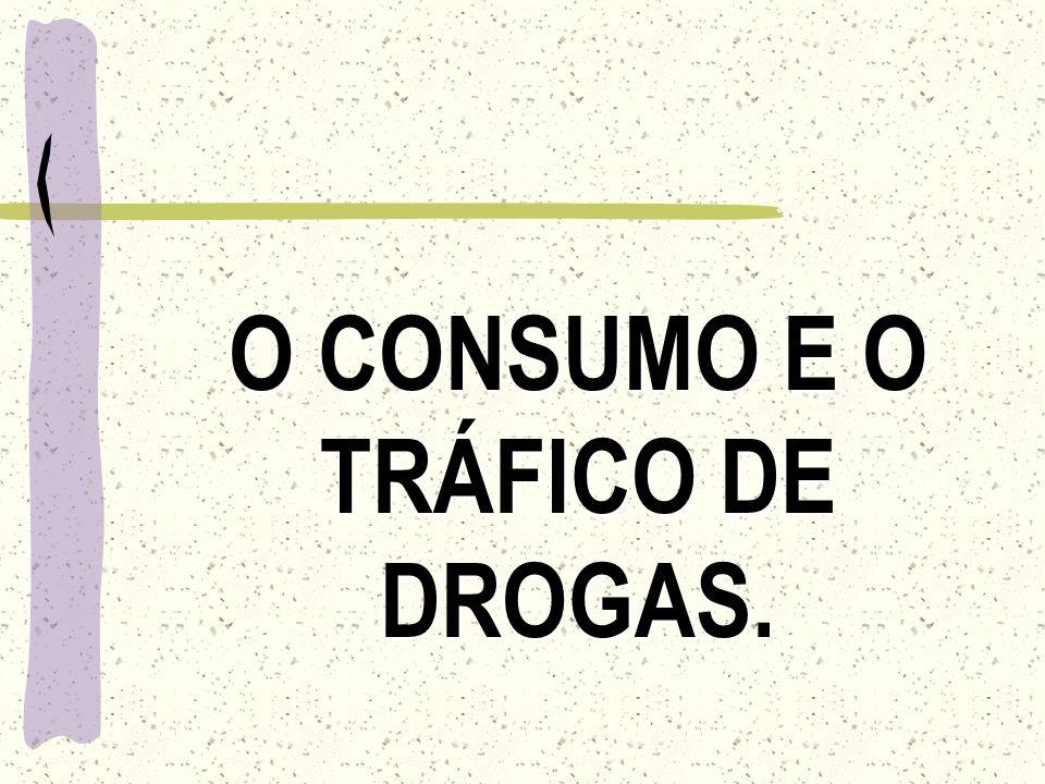 O CONSUMO E O TRÁFICO DE DROGAS.