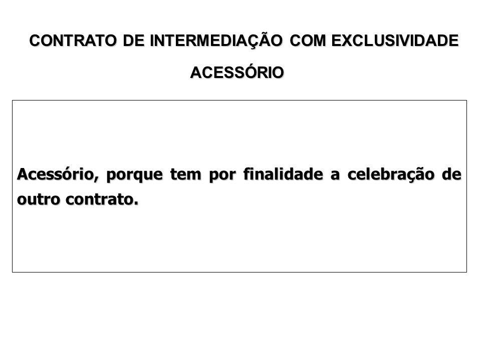 CONTRATO DE INTERMEDIAÇÃO COM EXCLUSIVIDADE