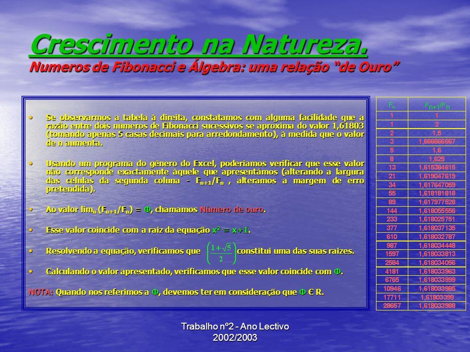 Trabalho nº2 - Ano Lectivo 2002/2003