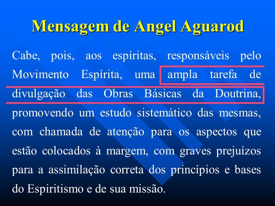 Mensagem de Angel Aguarod