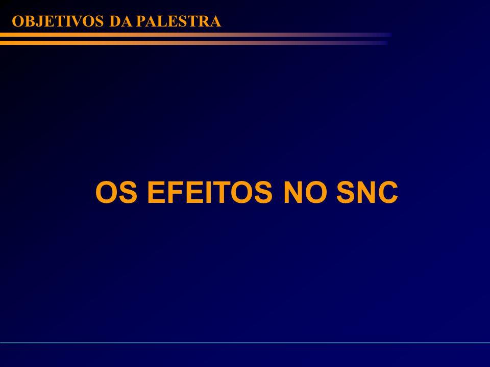 OBJETIVOS DA PALESTRA OS EFEITOS NO SNC