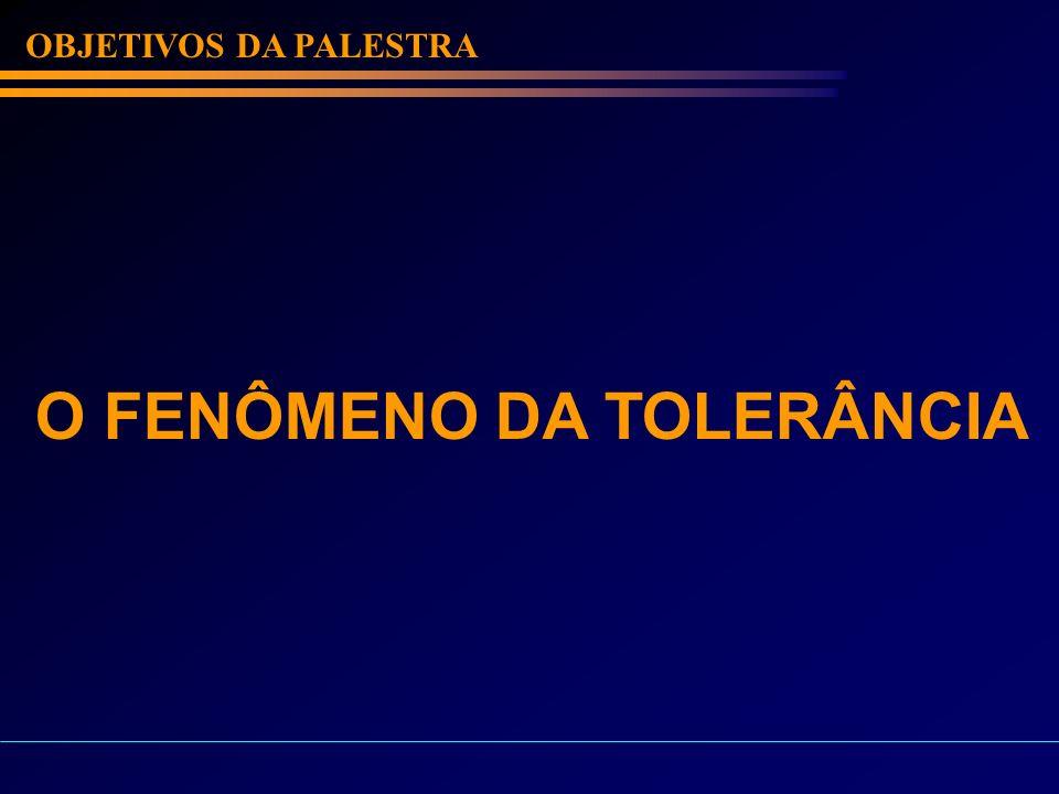 O FENÔMENO DA TOLERÂNCIA
