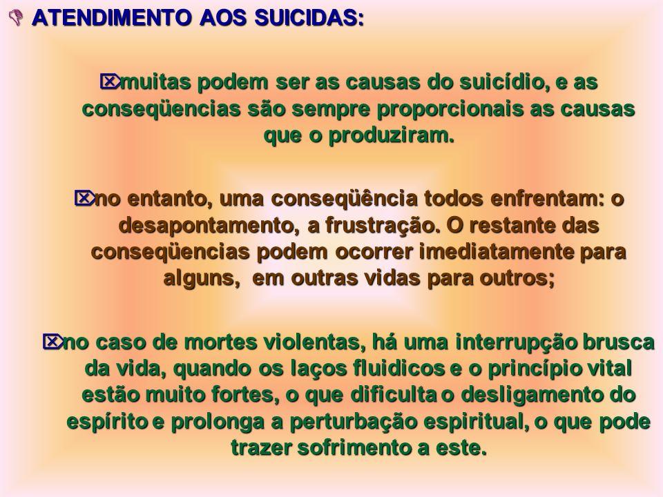 ATENDIMENTO AOS SUICIDAS: