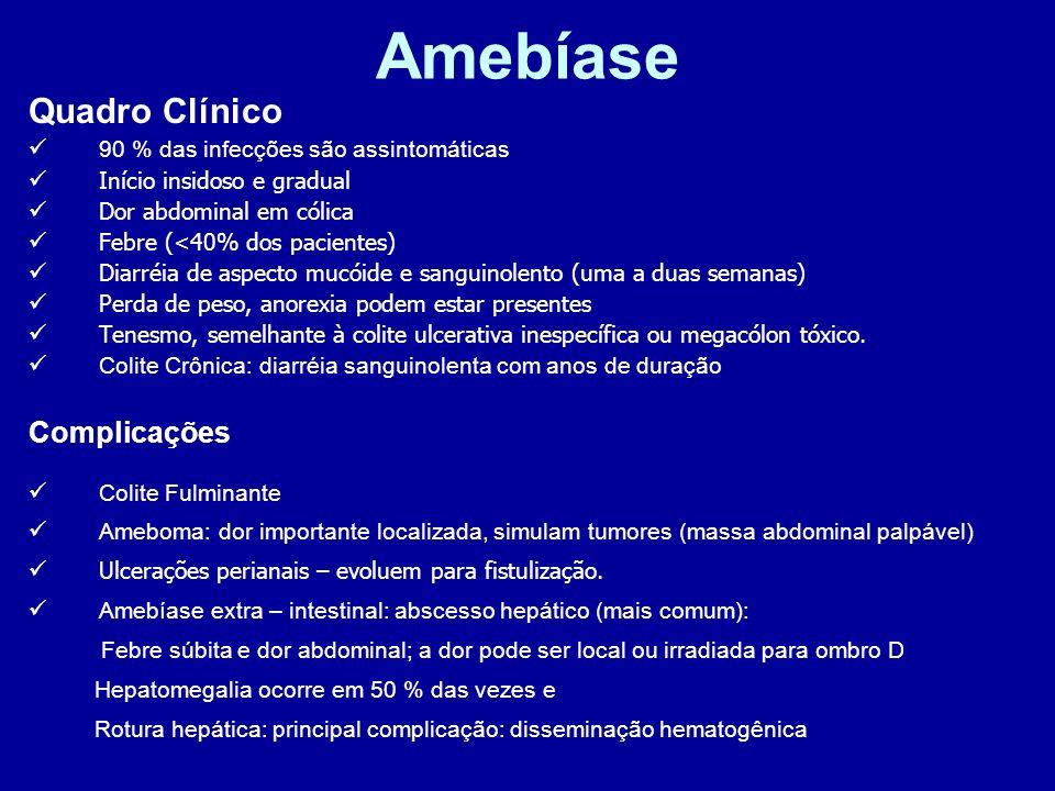 Amebíase Quadro Clínico Complicações