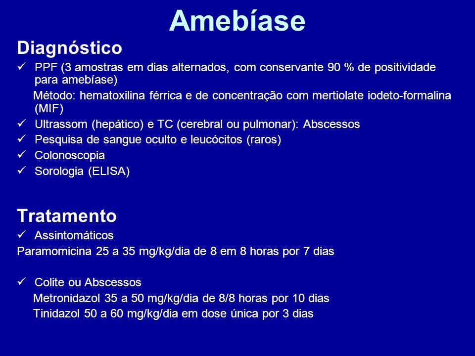 Amebíase Diagnóstico Tratamento