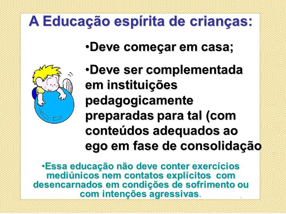 A Educação espírita de crianças: