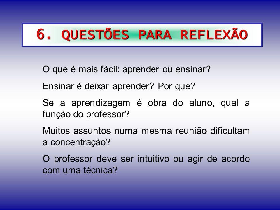 6. QUESTÕES PARA REFLEXÃO