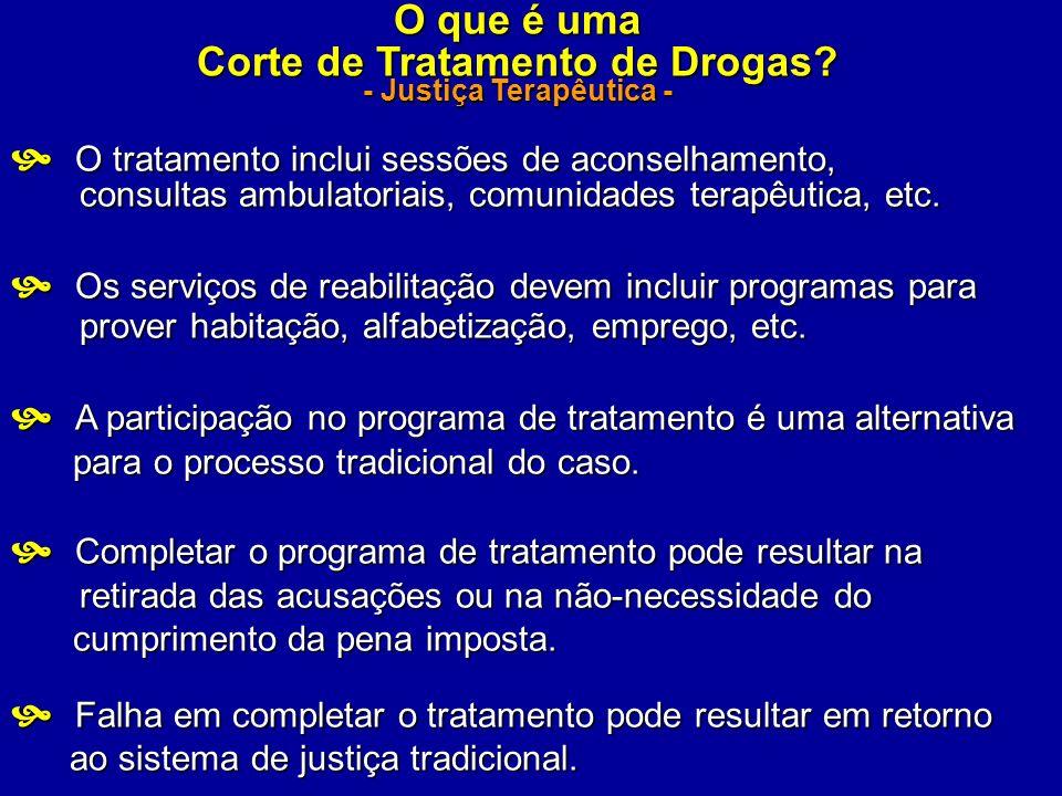 Corte de Tratamento de Drogas - Justiça Terapêutica -