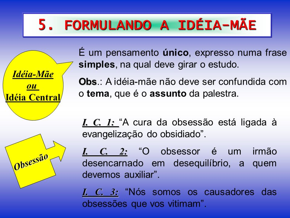 5. FORMULANDO A IDÉIA-MÃE