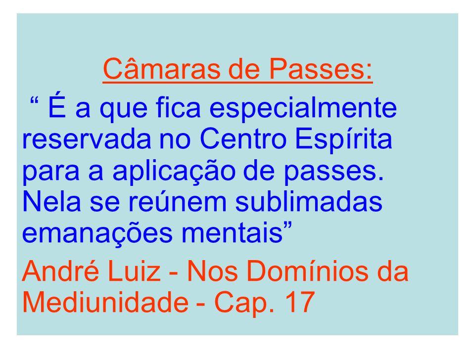 Câmaras de Passes: