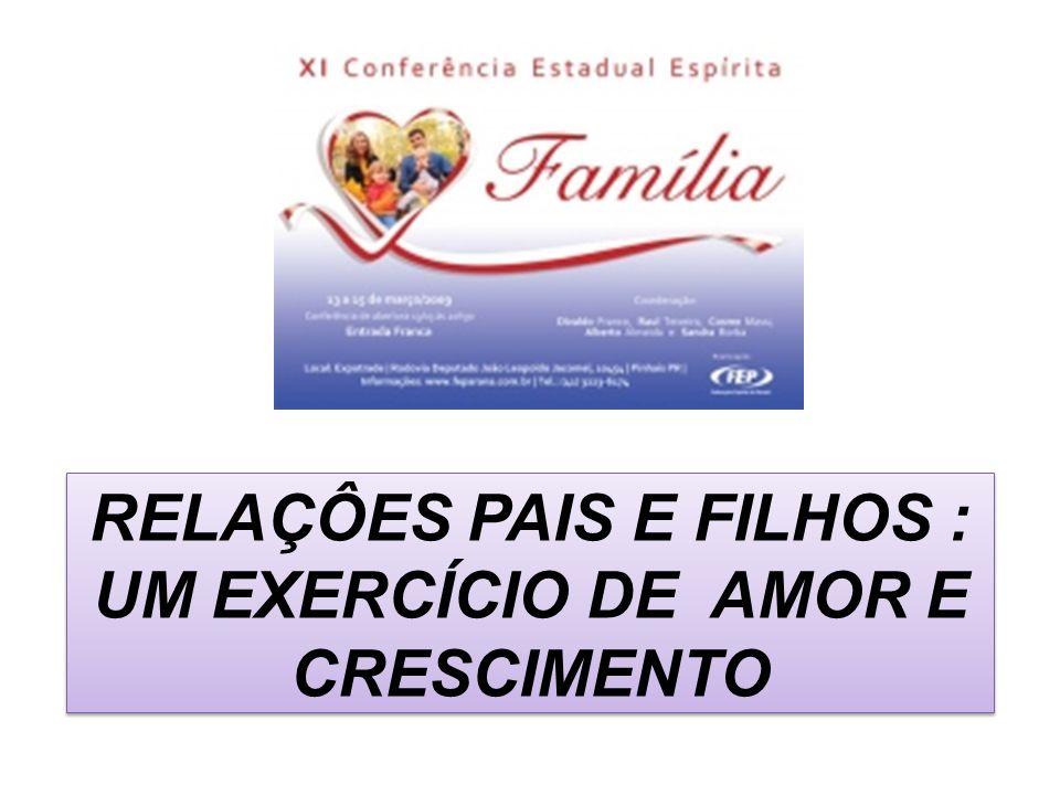 RELAÇÔES PAIS E FILHOS : UM EXERCÍCIO DE AMOR E CRESCIMENTO