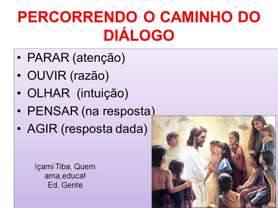 PERCORRENDO O CAMINHO DO DIÁLOGO