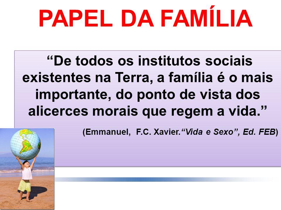 PAPEL DA FAMÍLIA