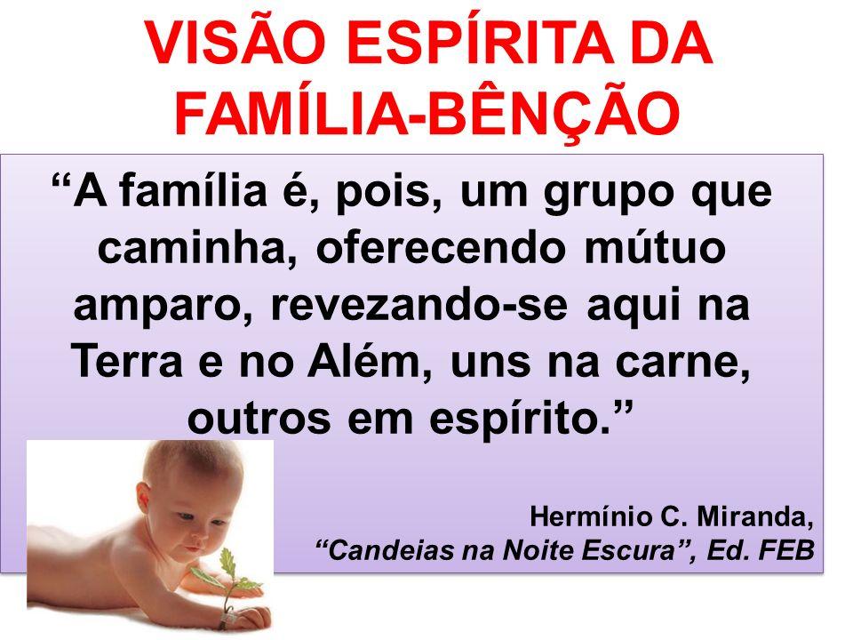 VISÃO ESPÍRITA DA FAMÍLIA-BÊNÇÃO
