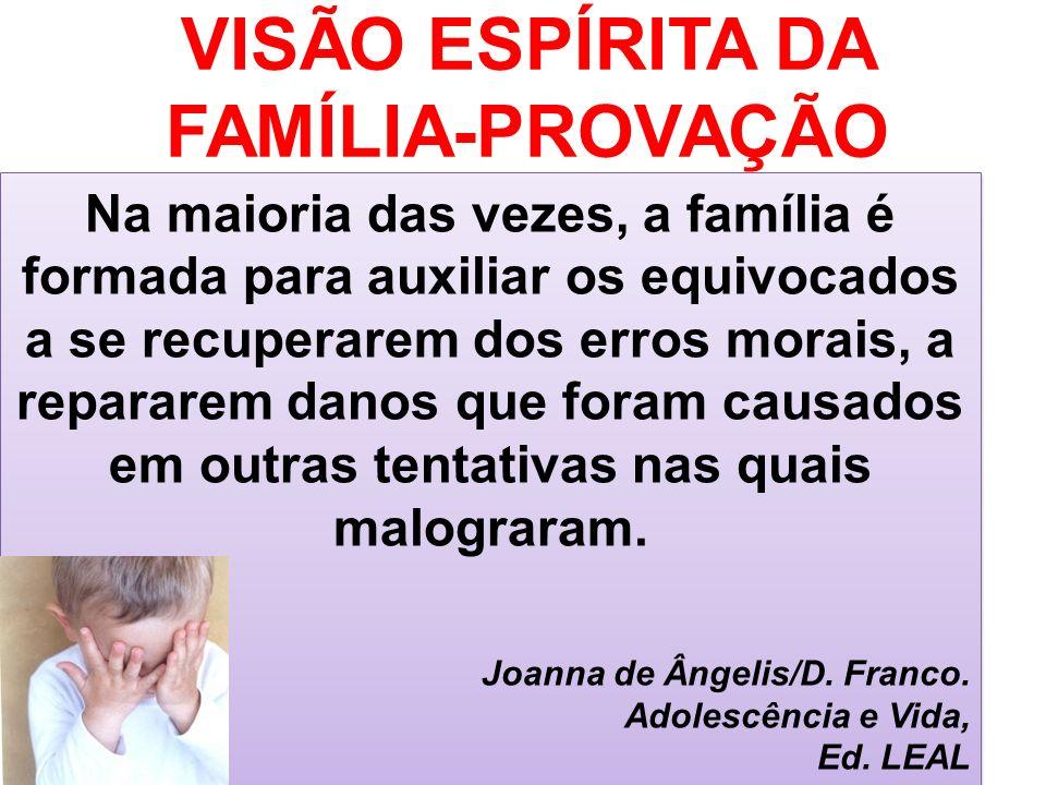 VISÃO ESPÍRITA DA FAMÍLIA-PROVAÇÃO