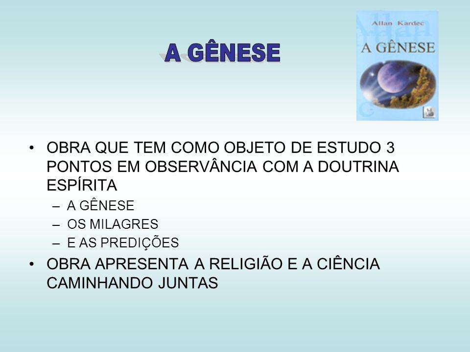 OBRA APRESENTA A RELIGIÃO E A CIÊNCIA CAMINHANDO JUNTAS