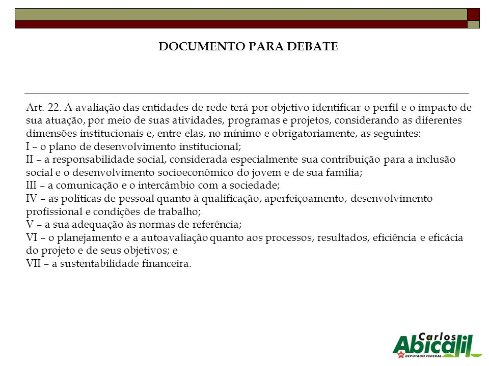 DOCUMENTO PARA DEBATE