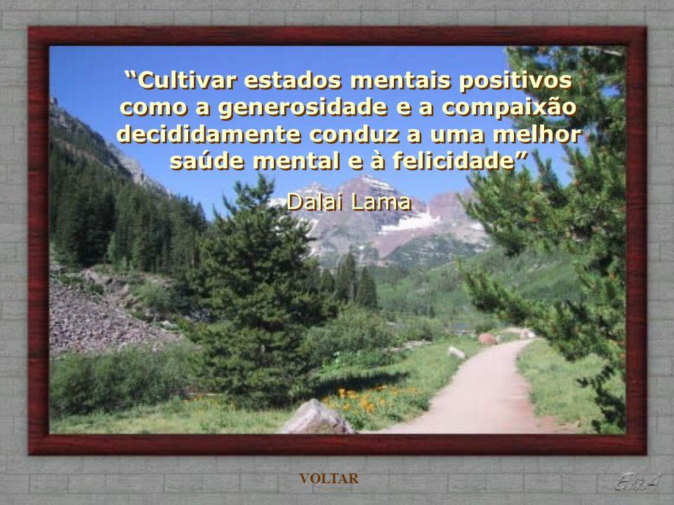 Cultivar estados mentais positivos como a generosidade e a compaixão decididamente conduz a uma melhor saúde mental e à felicidade