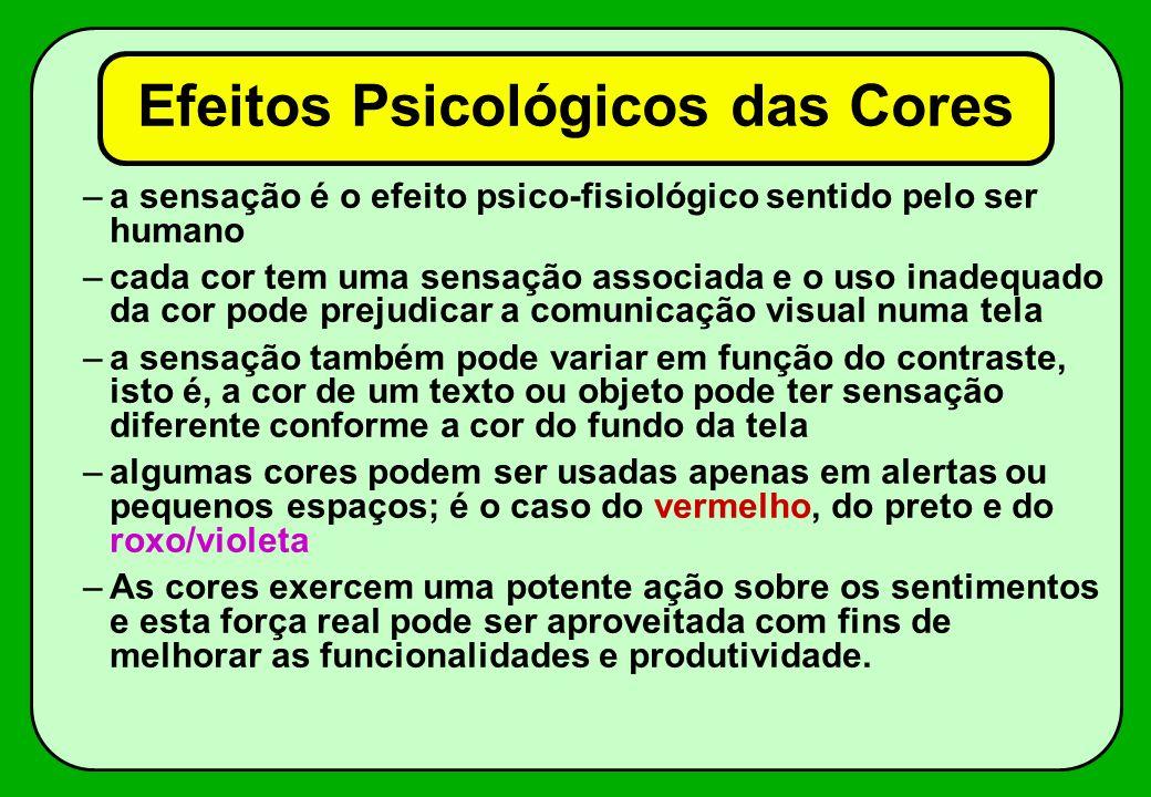 Efeitos Psicológicos das Cores