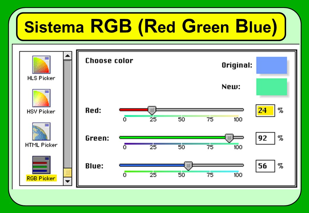 Sistema RGB (Red Green Blue)