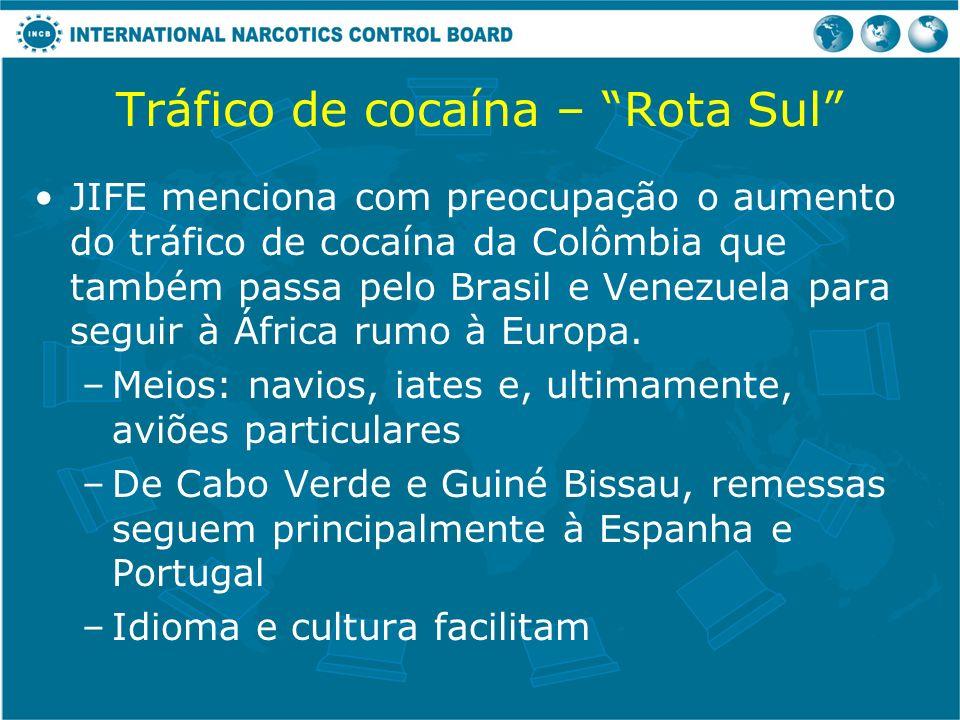 Tráfico de cocaína – Rota Sul