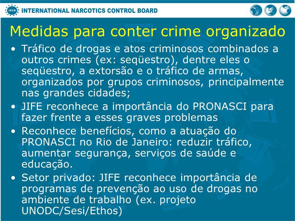 Medidas para conter crime organizado