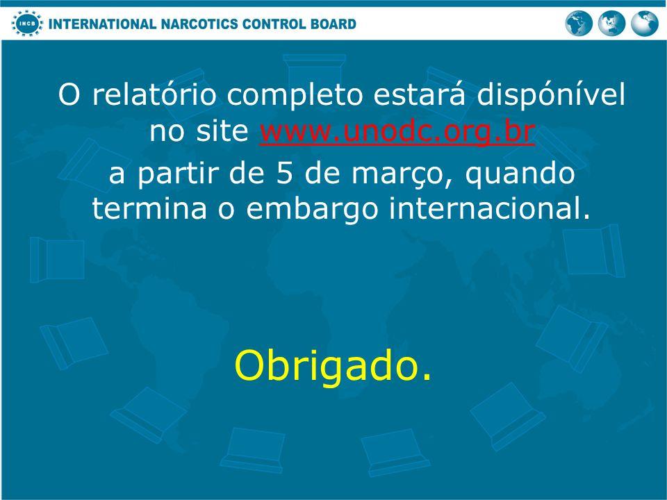 O relatório completo estará dispónível no site www.unodc.org.br
