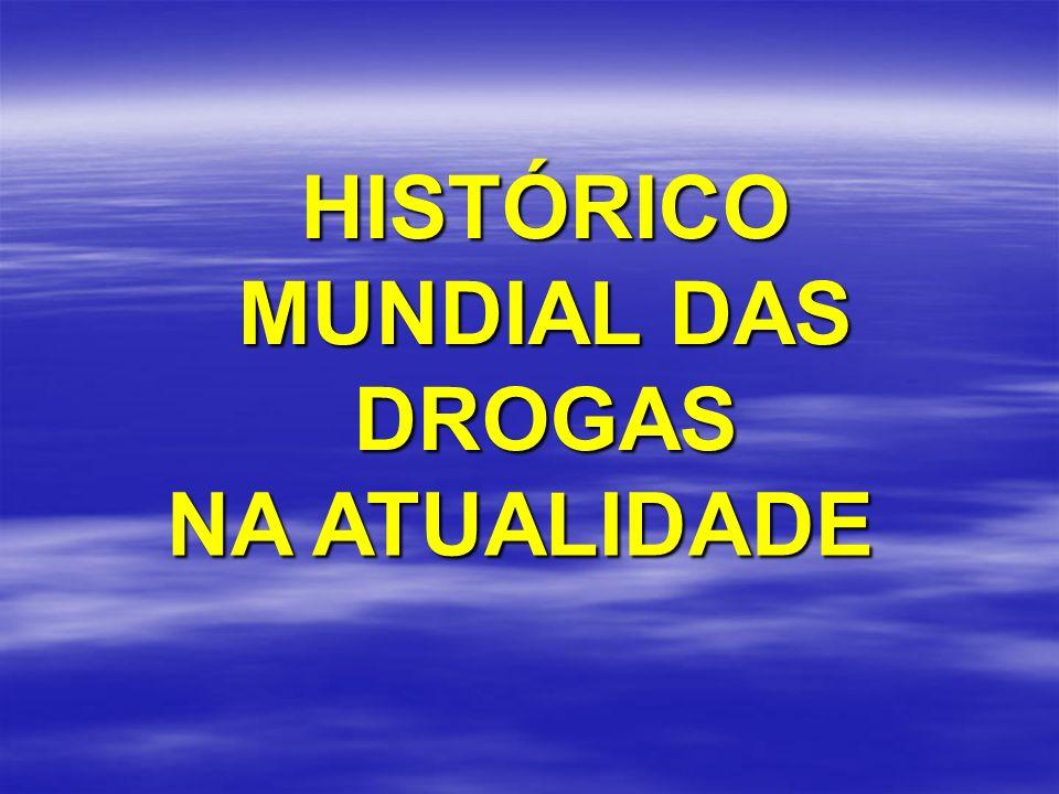 HISTÓRICO MUNDIAL DAS DROGAS