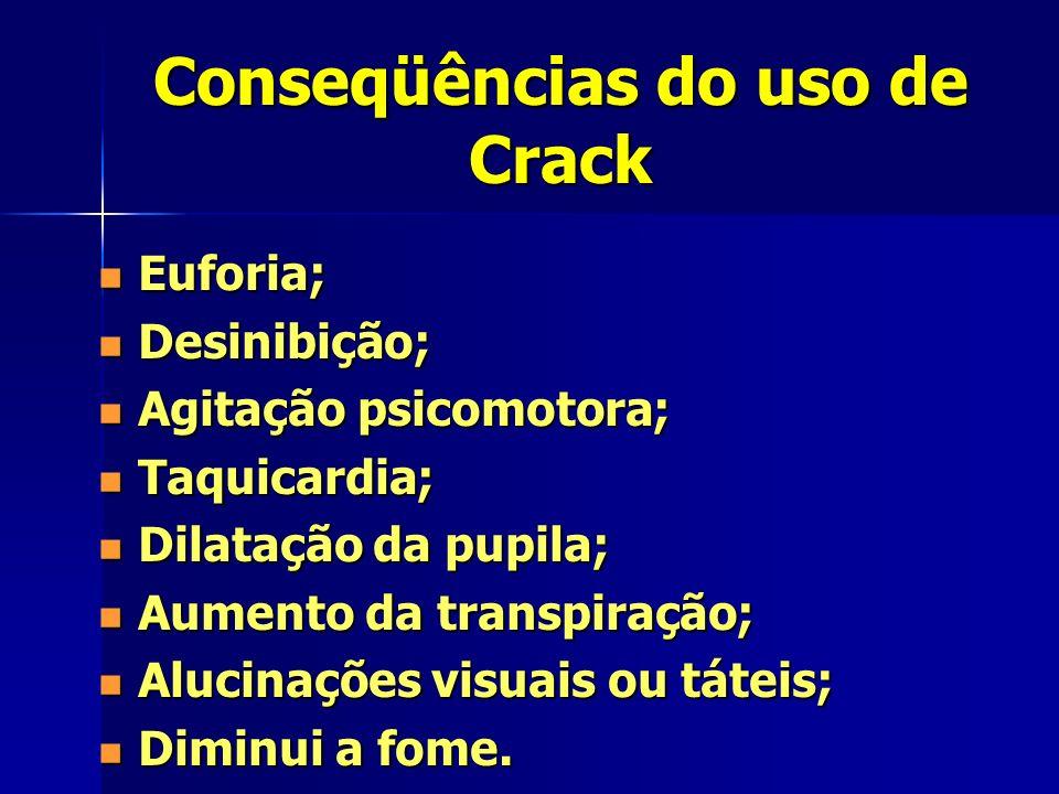 Conseqüências do uso de Crack