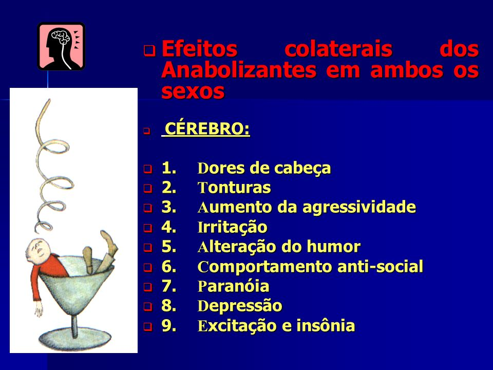 Efeitos colaterais dos Anabolizantes em ambos os sexos