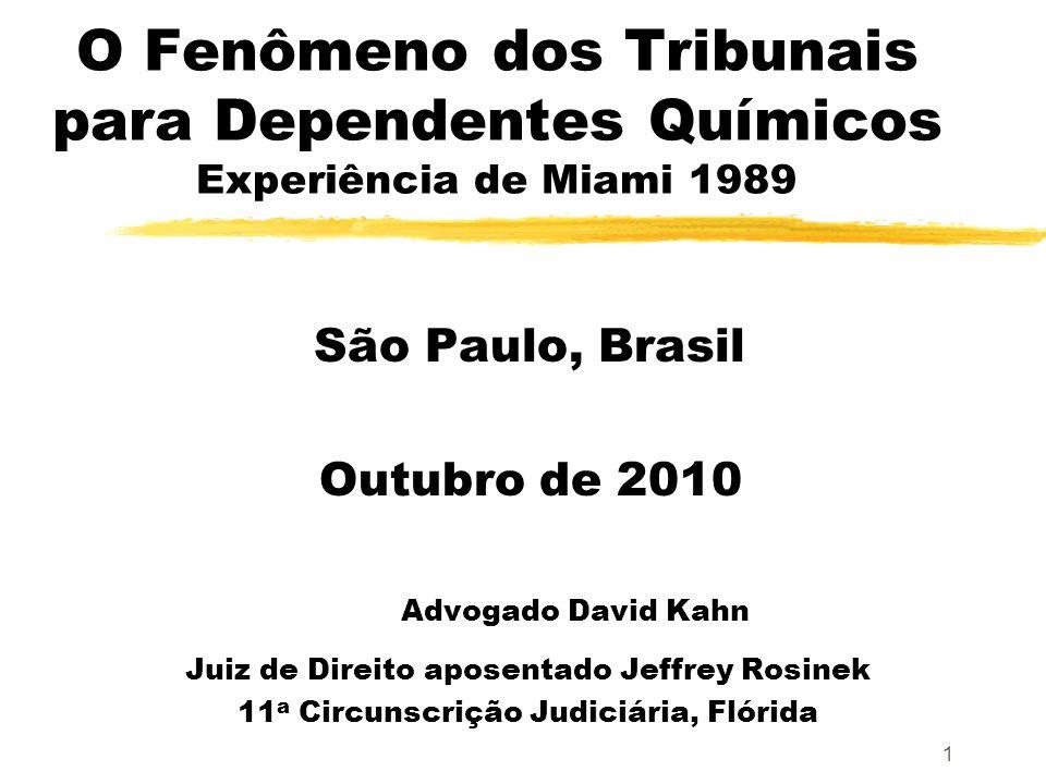 O Fenômeno dos Tribunais para Dependentes Químicos Experiência de Miami 1989