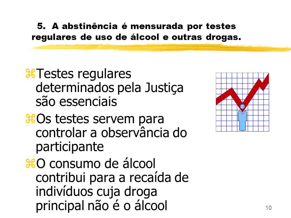 Testes regulares determinados pela Justiça são essenciais