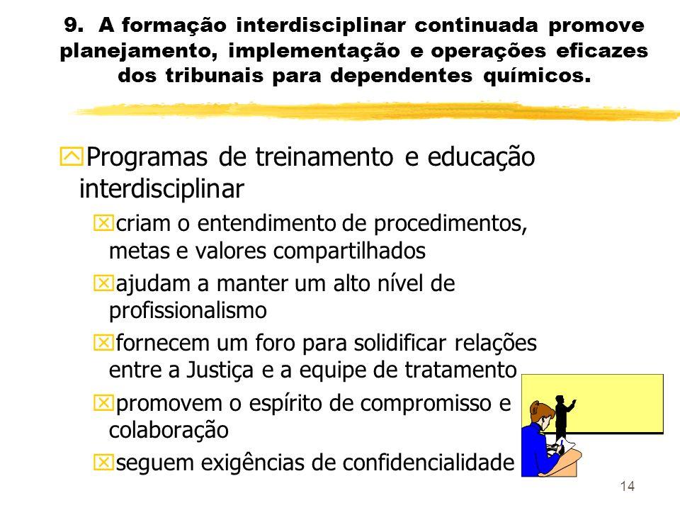 Programas de treinamento e educação interdisciplinar