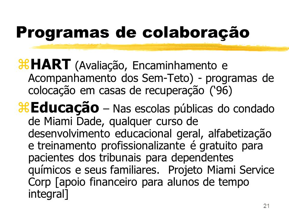 Programas de colaboração