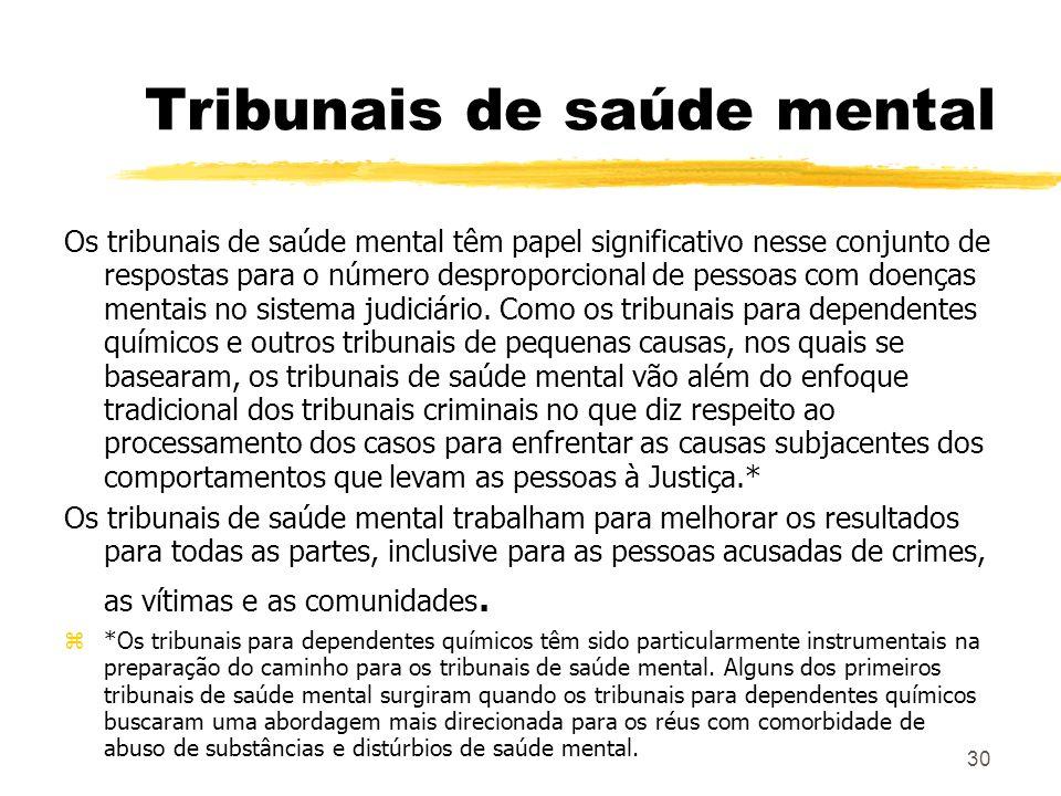 Tribunais de saúde mental