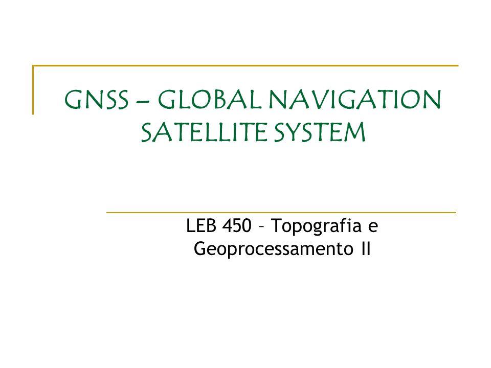 GNSS – GLOBAL NAVIGATION SATELLITE SYSTEM