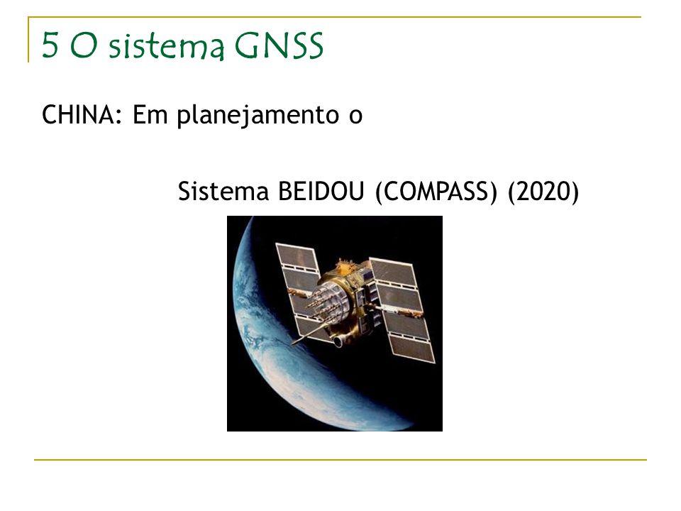 5 O sistema GNSS CHINA: Em planejamento o