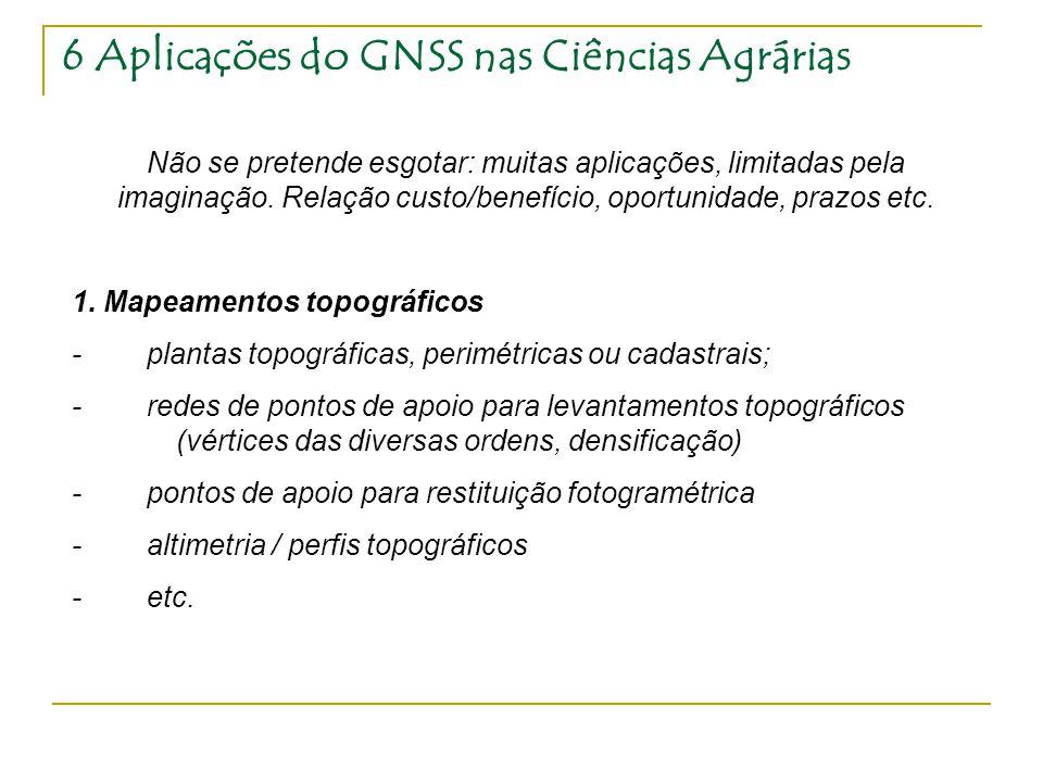 6 Aplicações do GNSS nas Ciências Agrárias