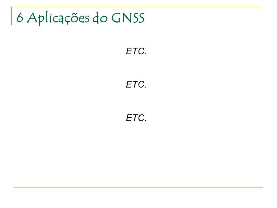 6 Aplicações do GNSS ETC.