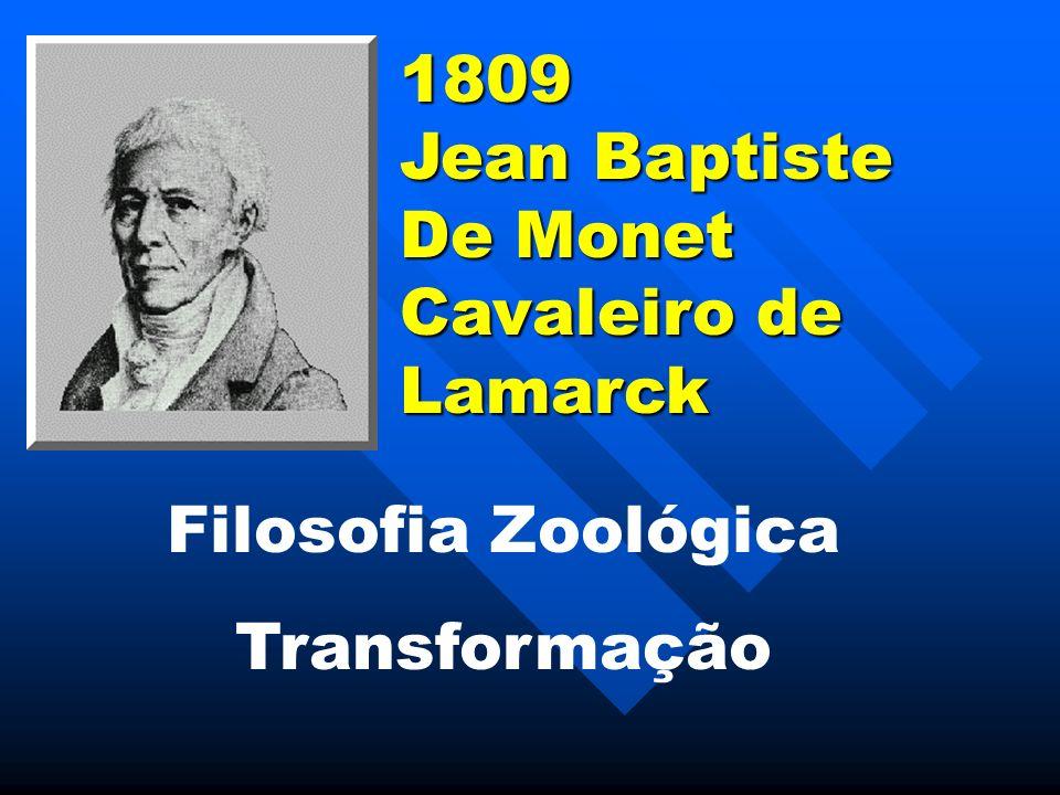 1809 Jean Baptiste De Monet Cavaleiro de Lamarck Filosofia Zoológica Transformação