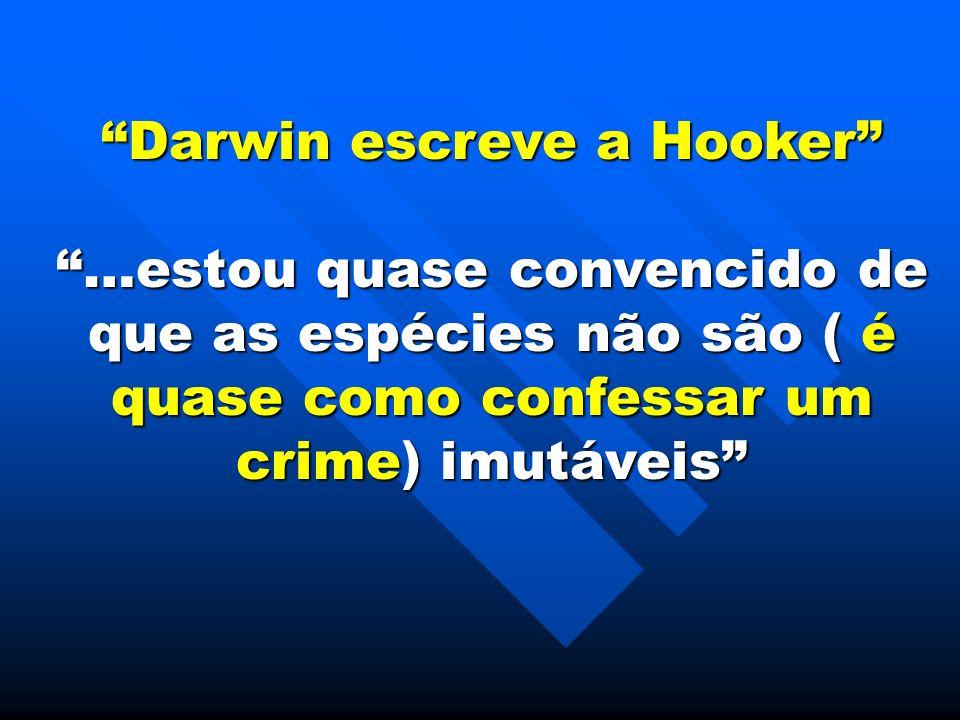Darwin escreve a Hooker