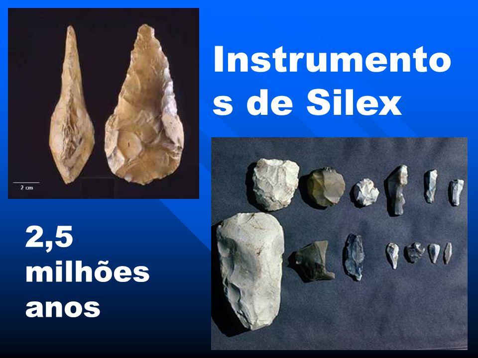 Instrumentos de Silex 2,5 milhões anos