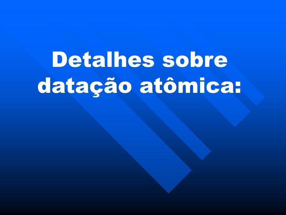 Detalhes sobre datação atômica: